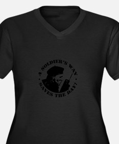 Funny Soldiers Women's Plus Size V-Neck Dark T-Shirt
