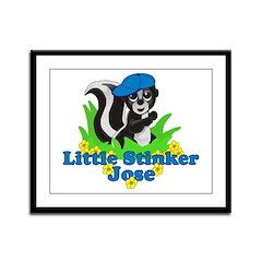 Little Stinker Jose Framed Panel Print