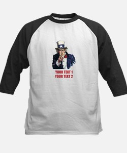 [Your text] Uncle Sam 2 Kids Baseball Jersey