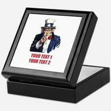 [Your text] Uncle Sam 2 Keepsake Box