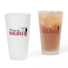 Missing my Soldier Drinking Glass