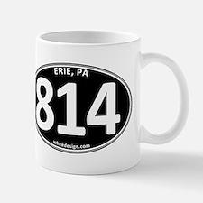 Black Erie, PA 814 Mug