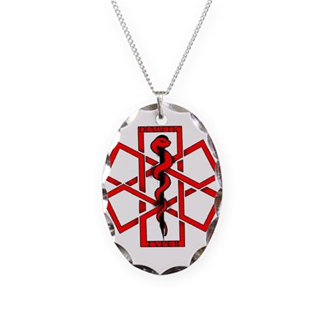Type 2 Diabetic Necklace Oval Charm