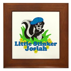 Little Stinker Josiah Framed Tile