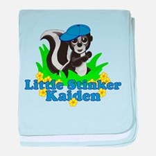 Little Stinker Kaiden baby blanket