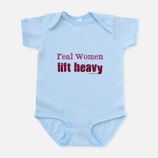 Real women lift heavy Infant Bodysuit