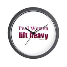 Real women lift heavy Wall Clock