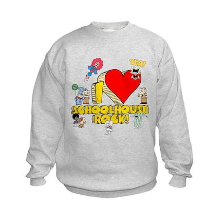 I Heart Schoolhouse Rock! Kids Sweatshirt