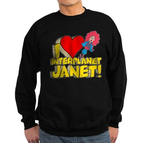 I Heart Interplanet Janet! Dark Sweatshirt