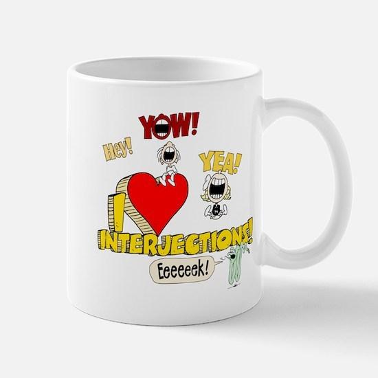 I Heart Interjections Mug