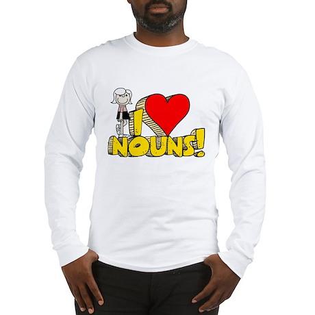 I Heart Nouns - Schoolhouse Rock! Long Sleeve T-Sh