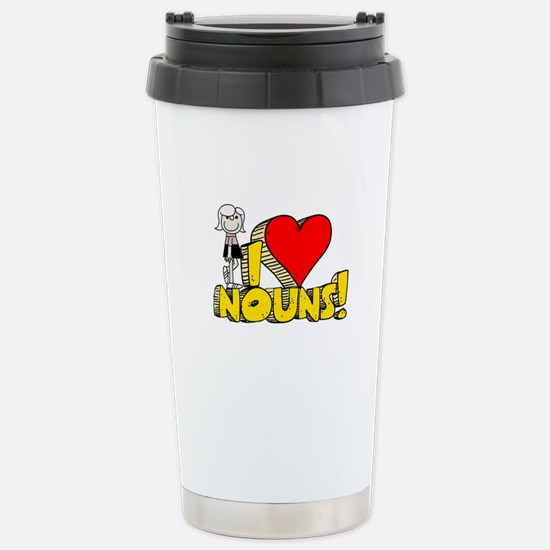 I Heart Nouns - Schoolhouse Rock! Stainless Steel