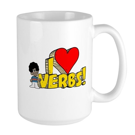 I Heart Verbs - Schoolhouse Rock! Large Mug