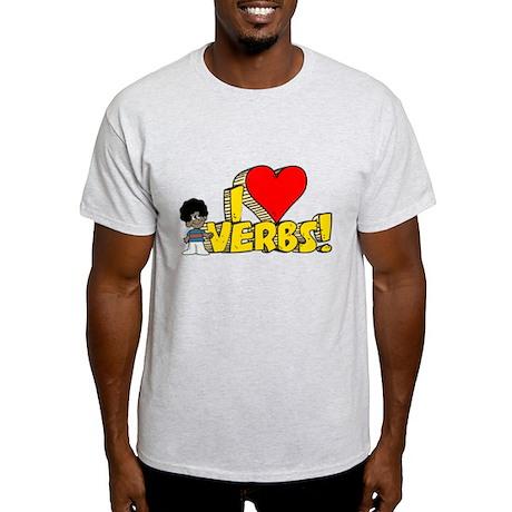 I Heart Verbs - Schoolhouse Rock! Light T-Shirt