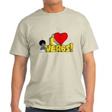 I Heart Verbs - Schoolhouse Rock! Light T-Shirt