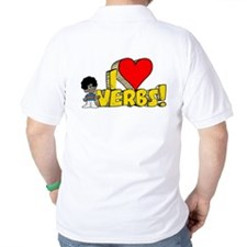 I Heart Verbs - Schoolhouse Rock! Golf Shirt