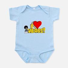 I Heart Verbs - Schoolhouse Rock! Infant Bodysuit