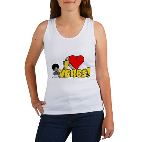 I Heart Verbs - Schoolhouse Rock! Women's Tank Top