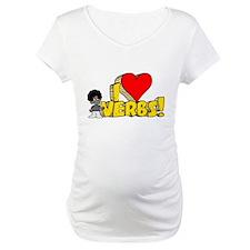 I Heart Verbs - Schoolhouse Rock! Maternity T-Shir