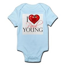I Heart Paul Young Infant Bodysuit