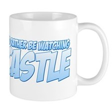 I'd Rather Be Watching Castle Small Mug