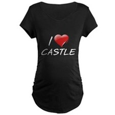 I Heart Castle Maternity Dark T-Shirt