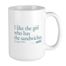 I Like the Girl Who Has the Sandwiches Large Mug