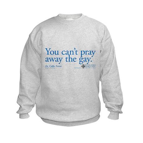 Pray Away the Gay - Grey's Anatomy Kids Sweatshirt