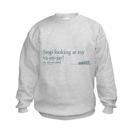 Va-jay-jay - Grey's Anatomy Kids Sweatshirt