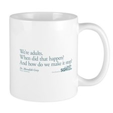 We're Adults - Grey's Anatomy Quote Small Mug