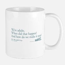 We're Adults - Grey's Anatomy Quote Small Small Mug