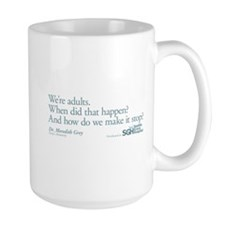 We're Adults - Grey's Anatomy Quote Large Mug