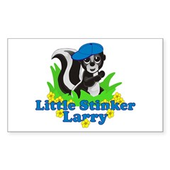 Little Stinker Larry Sticker (Rectangle 10 pk)
