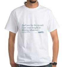 For the Record - Grey's Anatomy Quote White T-Shir