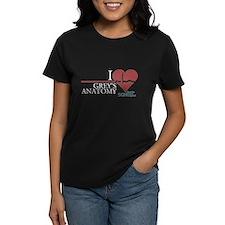 I Heart Grey's Anatomy Women's Dark T-Shirt