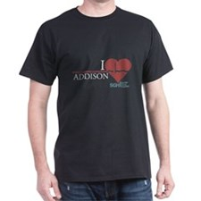 I Heart Addison - Grey's Anatomy Dark T-Shirt