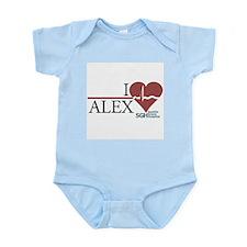 I Heart Alex - Grey's Anatomy Infant Bodysuit