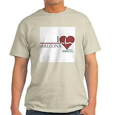 I Heart Arizona - Grey's Anatomy Light T-Shirt