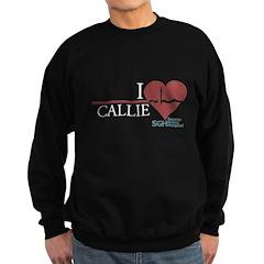I Heart Callie - Grey's Anato Dark Sweatshirt