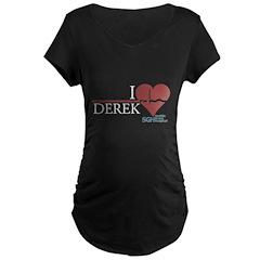 I Heart Derek - Grey's Anatomy Maternity Dark T-Sh