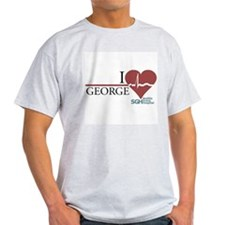 I Heart George - Grey's Anatomy Light T-Shirt