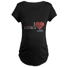 I Heart George - Grey's Anatomy Maternity Dark T-S