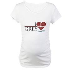 I Heart Grey - Grey's Anatomy Maternity T-Shirt