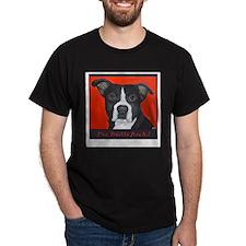 Pit Bulls Rock Black T-Shirt