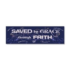 Saved by Grace Car Magnet 10 x 3