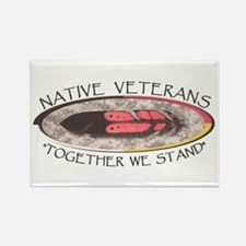 Native Veterans Rectangle Magnet