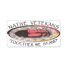 Native Veterans Aluminum License Plate