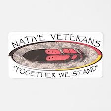 Native Veterans Aluminum License Plate