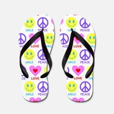 Peace Love Smile Flip Flops