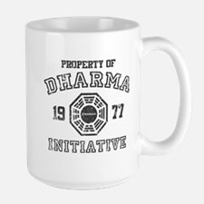 Property of Dharma Distressed Large Mug